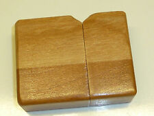 VINTAGE ZIPPO LIGHTER-Full Wood wrapped-tempesta Accendino-VERY RARE