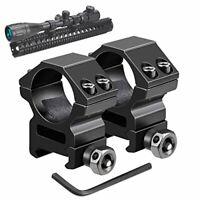 Medium Profile Picatinny & Weaver Rail Mount Rifle Scope Rings for 1-Inch Tubes