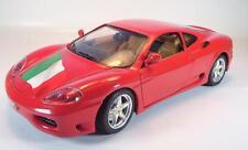 BBURAGO 1/18 FERRARI 360 MODENA (1999) Rouge avec drapeau #2315