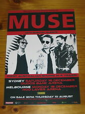 MUSE - 2017 Australia Tour -  Laminated OFFICIAL Promotional Poster