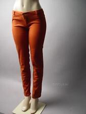 Rust Orange Women Autumn Classic Stretch Slim Leg Fit Skinny 97 ac Pants sz 7