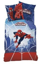 Spiderman Wende Bettwäsche Set 135x200cm 80x80cm Biber/Flanell WEB Spider 44941