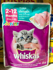 85 g. Whiskas Pouch Junior Cat Kitten Wet Food From Real Fish Tuna Flavor