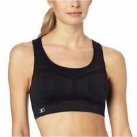 Champion Women's Freedom Seamless Racerback Sports Bra,, Black, Size Small HVOJ