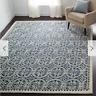 Safavieh Hand Made Navy Ivory Wool Area Rug 9' X 12' Living Dining Room Carpet