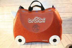 Gruffalo Trunki Ride-on Suitcase Brown Kids Fun Durable Luggage Lightweight Play