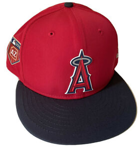 NEW ERA LOS ANGELES ANGELS 59FIFTY 7 5/8 SPRING TRAINING 2018 HAT $40 MLB RED DS