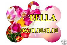 MEDAILLE POUR  CHIEN PERSONNALISABLE PERSONNALISEE nom et n° de téléphone Réf 72