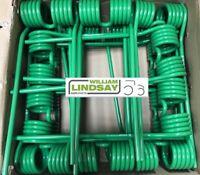 10 x Krone KW Grass Silage Hay Tedder Kicker Tine Green Clockwise Tine 1530141