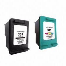 2 cartuchos para impresora XL for 337 343 OfficeJet 6304 6310 6313 6315 h470