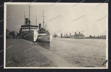 Stettin-Szczecin-Polen-1928-Seltene Photo-Stadt-Ansicht-Hafen-Schiff-Pommern-11