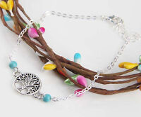 HORSE & WESTERN JEWELLERY JEWELRY LADIES TREE OF LIFE CHARM  BRACELET SILVER