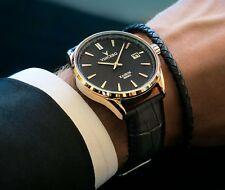 VINCERO Watches Classic BLACK/GOLD Leather Band Men's Luxury Watch *New in box