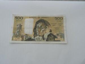 billet 500 francs pascal 1984 c.198