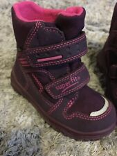 Super Fit Goretex Boots Infant Girls Size 8 Maroon