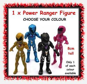1 x Power Ranger figure / figurine - 8cm tall - CHOOSE COLOUR - cake topper