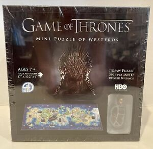 NIB Game of Thrones Mini Puzzle of Westeros 350+ Pcs 17 Buildings 4D Cityscape