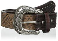 Roper Men's Elephant Embossed Western Belt in Brown or Grey 8584500
