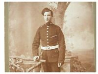 Antique late 19th century photograph card portrait of a Soldier Parisian Photo