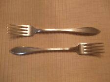 """2 (7 5/8"""") Grill Forks, Oneida Wm. A. Rogers A1 ,  """"Lufberry"""" C. 1915"""