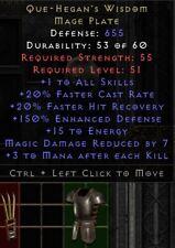Que Hegan's Wisdom Armor | Que Hegans Weisheit | Diablo 2 Resurrected D2R SC PC