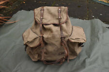 Vintage 1940s - 1950's French Foreign Legion Canvas Rucksack