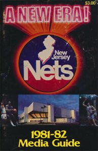 New Jersey Nets _RARE_ 1981/82 Media Guide/Schedule vtg NBA Basketball Brooklyn