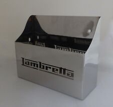 Lambretta STAINLESS under panel Toolbox Oil Storage LASER CUT STAINLESS