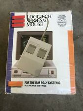 NOS Vintage Logitech Series/2 Mouse For IBM PS/2 Sealed in Box New