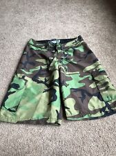 LEVEL SIX MENS Camo CARGO SWIM BOARDSHORTS SHORTS SIZE 30