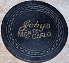 RARELY SEEN $1 1955 1ST EDITION CHIP FROM JOBY'S MONTE CARLO CASINO LAKE TAHOE