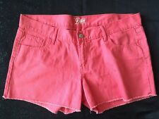Old Navy The Diva Cut Off Denim Shorts Womens Size 12 Watermelon Pink Jean VGC