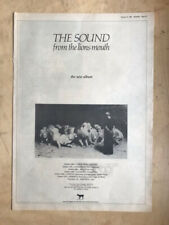 SOUND FROM THE LIONS MOUTH POSTER SIZED original music press advert from 1981 wi