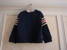 NWT Janie And Jack Boys Striped Arm Pullover Top  4 4T  Navy