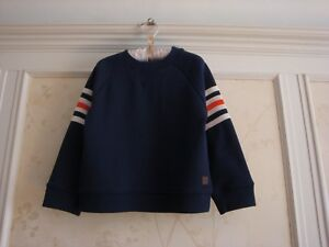 NWT Janie And Jack Boys Striped Arm Pullover Top  3 3T  Navy