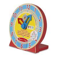 Melissa & Doug Turn & Tell Wooden Clock - Educational Toy