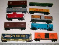 Lot of 10 Vintage TYCO, AHM & Other HO Scale Freight Train Railroad RR Cars