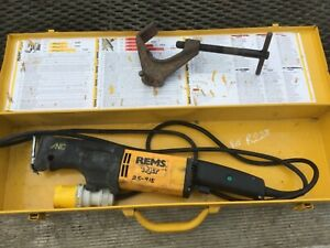 REMS TIGER RECIPROCATING SAW WITH CARRY CASE PIPE FITTER STEEL PLASTIC OR TIMBER