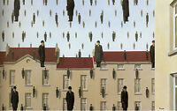 Framed Print - René Magritte Golconda (Picture Surrealism Painting Replica Art)