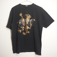 Gianfranco Ferre Jeans- Vintage Graphic Metallic Lion Men's Black T-Shirt XL