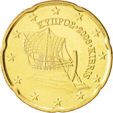 Monnaie 20 centimes cent cts euro Chypre 2017, neuves du rouleau, UNC
