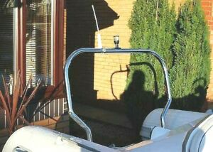 A Frame 316 Marine Polished Stainless Steel 1100mm. Heavy Duty 38mm Boat RIB