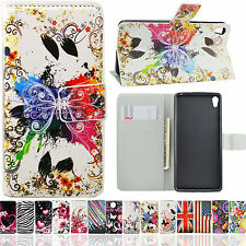 Flip Folding PU Leather Stand Case Book Style Card Slot Cover For Various Phone