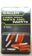 Carbon Arrow Nocks And Inserts - Allen Archery (6-Pack) Orange - 68422A