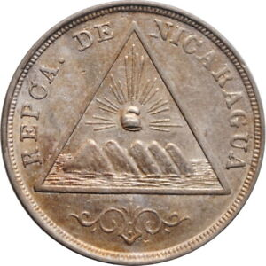 "Nicaragua 5 centavos 1899, UNC, ""Peso (1878 - 1899)"""