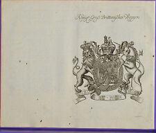 Großbritannien königliches Wappen und Stammtafel , Kupferstich 1761     #4