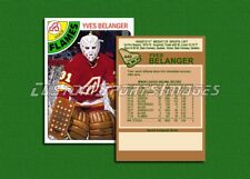 Yves Belanger - Atlanta Flames - Custom Hockey Card  - 1977-78