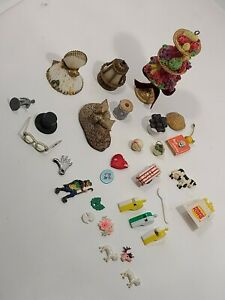 Dollhouse Miniatures/Accessories  Food-Whistles-Animals-Lighting-Shells LOT=20+