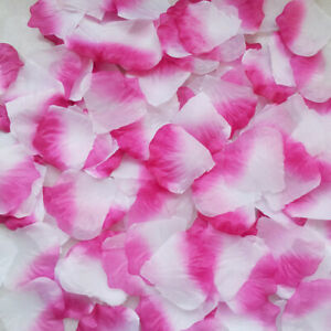 1000 - 5000 SILK ROSE PETALS FLOWER TABLE DECORATION CONFETTI WEDDING PARTY
