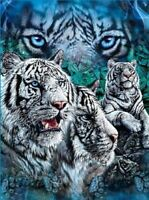Find White Tigers Tiger fleece blanket  throw NEW